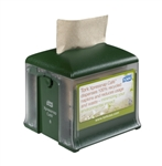 Xpressnap Cafe Tork Dispenser Plastic Green - 6.2 in. x 5.9 in. x 5.9 in.
