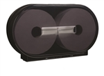 Black Twin Dispenser For Tork Jumbo Roll Bath Tissue