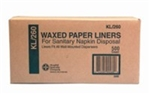 Waxed Paper Liner For Sanitary Napkin Disposal Kraft - 7.5 in. x 3.5 in. x 10.25 in.