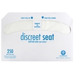 Discreet Seat Toilet Seat Covers Half Fold Paper White