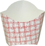 Red Plaid Glued Small French Fry Carton - 3.37 in. x 1.50 in. x 3.50 in.