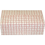 Carryout Medium Auto Bottom Fast Top Red Plaid Carton