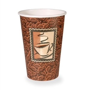 Java Mira-Glaze No Handle Paper Hot Cup - 16 oz.