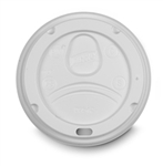 Large White Plastic Hot Cup Lid - 0.75 in. x 3.6 in.