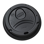 Black Plastic Hot Cup Lid - 0.75 in. x 0.36 in.