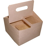 Kraft Paper Cup Carrier - 6.93 in. x 6.93 in. x 9.18 in.