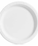 Smoothwall White Paper Plate - 10 in.