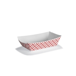 Red Plaid Paper Food Tray - 5 lb.