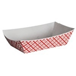 Food Tray Red Plaid - 1 Lb.