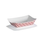 Red Plaid Paper Food Tray - 3 lb.