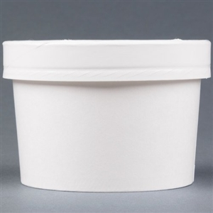 Food Container Combo with White Vented Paper Lid - 8-10 Oz.