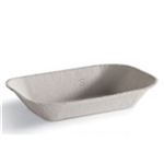Savaday Pulp Food Tray Molded Fiber - 7 in. x 5 in.