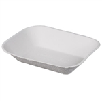 Savaday Just Molded Pulp Food Tray - 9 in. x 7 in.