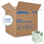 Kleenex Naturals Boutique White Facial Tissue - 8.4 in. x 8.2 in.