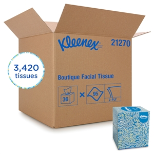 Kleenex Boutique White Facial Tissue Decorative Box  - 8.4 in. x 8.4 in.