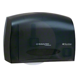 Coreless JRT Bath Tissue Dispenser Smoked - 14.25 in. x 9.75 in. x 6 in.