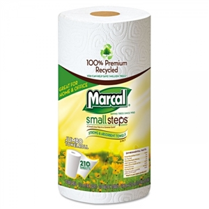 Recycled 100 Percent Premium Jumbo Roll White Towel - 11 in. x 9 in.