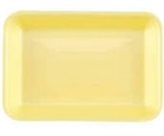 Yellow 2 Foam Tray - 8.20 in. x 5.20 in. x 70 in.
