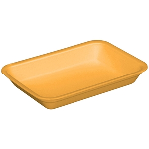 Yellow 4d Foam Tray - 9.5 in. x 7 in. x 1.25 in.