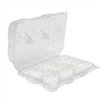 6 Compartment Hinged Cupcake Containers - 3.4 in.