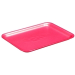 Pactiv 4S Foam Supermarket Tray Rose - 9.13 in. x 7.13 in. x 0.61 in.