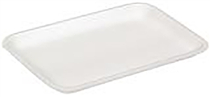 2S Foam White Tray - 8.2 in. x 5.7 in. x 0.65 in.