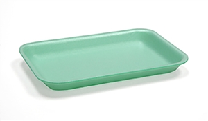 Foam Tray Green - 8.20 in. x 5.20 in. x 0.70 in.