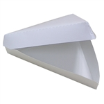 18/6 Plain Pizza Slice Clamshell Triangular Shape Paperboard White