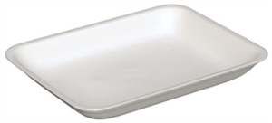 Foam Tray White - 10.61 in. x 8.31 in. x 1.20 in.