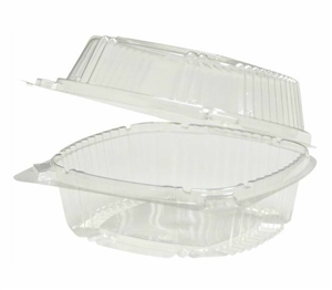 1 Compartment Hingeware Clear - 5.25 in. x 5.25 in. x 2.5 in.
