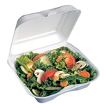 White Small Square Hinged Sandwich Container - 5.13 in. x 5.13 in.