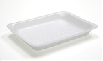 White 4P Foam Processor Tray - 9.25 in. x 7.25 in. x 1.38 in.
