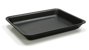 2 Black Foam Tray - 8.37 in. x 5.87 in. x 1.21 in.