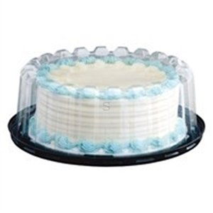 Cake Deep Dome Black Base 2-3 Layers Combo - 9 in.