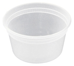 Deli Cup Combo with Lid Clear - 12 Oz.