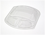 Clear Dome Lid for 3 Compartment Mealmaster Plastic