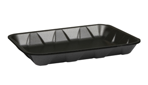 4H Heavy Black Meat Tray - 9.25 in. x 7.25 in. x 1.25 in.