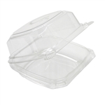 Clear Advantage 1 Compartment Hinged Lid Container - 6 in.