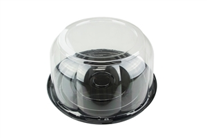 Cake Combo 10.25 in. Black and Clear Dome 3.5 in.
