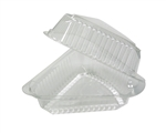 Showpie Pie Wedge Clear Hinged Container - 9 in.