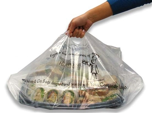 Plastic Clear Party Tray Bag - 18 in. x 7 in. x 24.5 in.