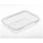 Jumbo Clear PET Strudel Container - 12.59 in. x 9.6 in. x 3.6 in.