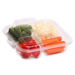 Tamper Visible 4 Compartment Pet Hinged Container - 12 oz.