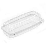 Submarine Clear Hinged Container - 9.69 in. x 3.69 in. x 2.87 in.