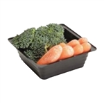 Offer Vs Serve Serving Tray Plastic Black - 5 Oz.