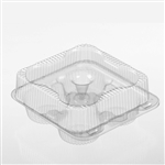 Muffin 4-Cavity Hinged Container - 7.69 in. x 8.19 in. x 3.31 in.