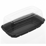 Black Base and Clear Lid Deep Bar Cake Combo - 10 in. x 5.37 in. x 4.31 in.