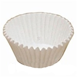 Fluted Paper White Baking Cup - 4.75 in.