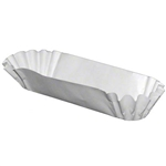 Medium Weight White Hot Dog Tray - 5.75 in. x 1.37 in. x 1.5 in.