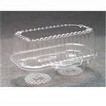 Clear OPS-HIPS Deep Cup Cake Container - 6.75 in. x 4 in.